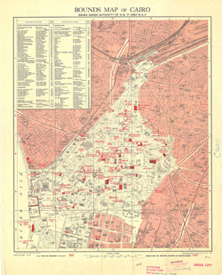 Cairo [Bounds maps of] (1946)